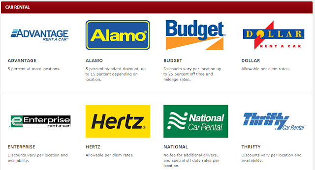 car rental military discounts